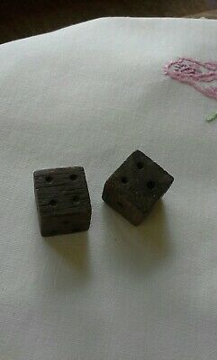 Antique or vintage pair of wooden dice