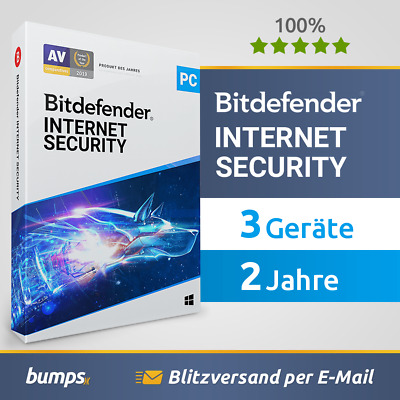 Bitdefender Internet Security 2020 - 3 PC (Windows) | 2 Jahre / 730 Tage