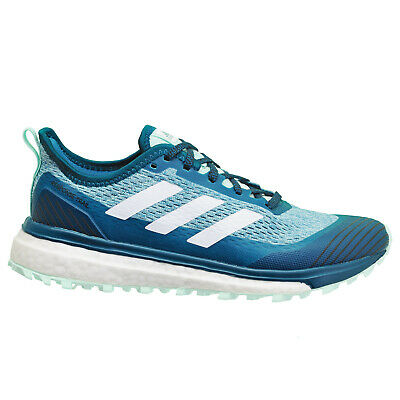 New Adidas Response Trail Boost Womens Running Shoes - Aqua Blue - Size 7.5