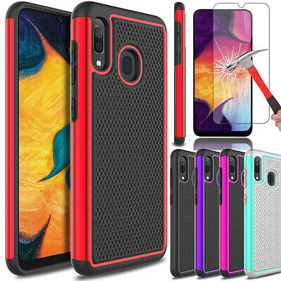 For Samsung Galaxy A10e A20 A50 A30 Case Cover Dual Layer With Screen Protector