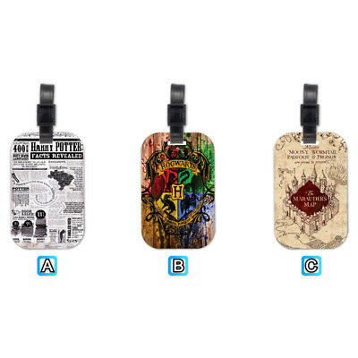 Harry Potter Marauders Map Lovely Wood Travel Luggage Tag Bag Accessory