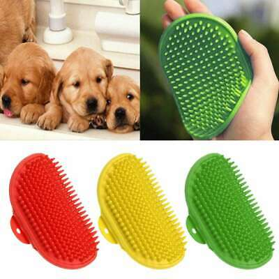 Pet Bath Brush Comb Flexible Band Cat Dog Cleaning Massage Grooming Glove
