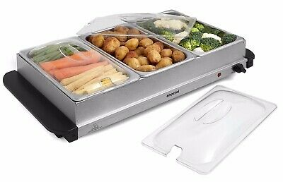 Emperial Food Warmer Buffet Server Hot Plate 3 X 2.5L Tray with Temperature 300W