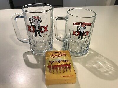 Xxxx Vintage Rare Beer Mugs (2) & Playing Cards