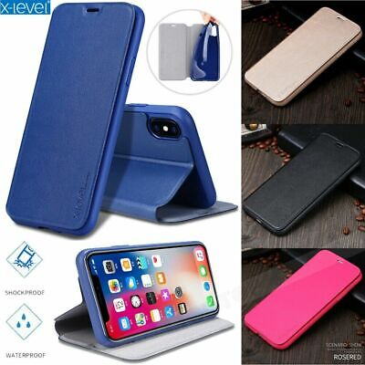 Fr Samsung Galaxy A70 A50 X-Level Genuine Magnetic Leather Flip Case Stand Cover
