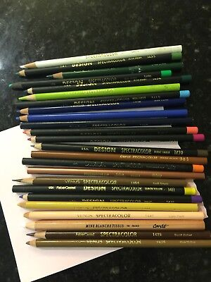 Vintage And Rare Spectracolour Pencils