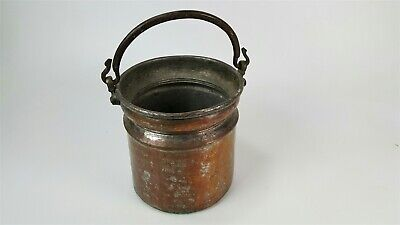 "Large antique copper pot / cauldron - hand hammered 10"" x 10'"