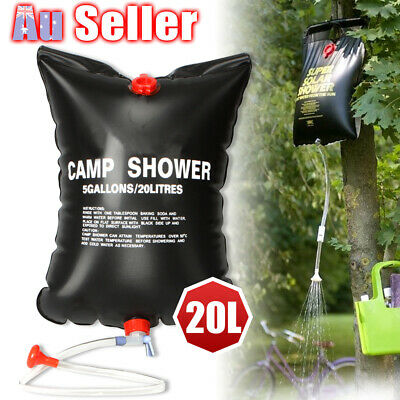 20L Water Travel Camp Solar Heated Portable Pipe Hiking Camping TT Shower Bag