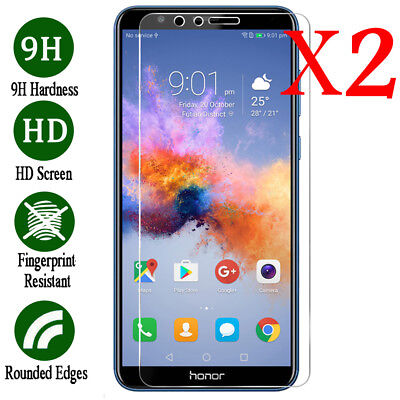 2PACK For HUAWEI Y6 Y7 2019 Y9 2019 2018 9H Tempered Glass Screen Protector