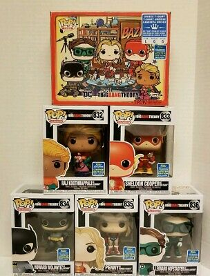 Funko Pop Big Bang Theory SDCC 2019 Walmart Shared Exclusive SET with T Shirt