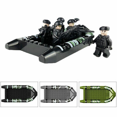 12Pcs/Set Special Forces Soldier with Weapons Building Blocks Boat Kids Toy
