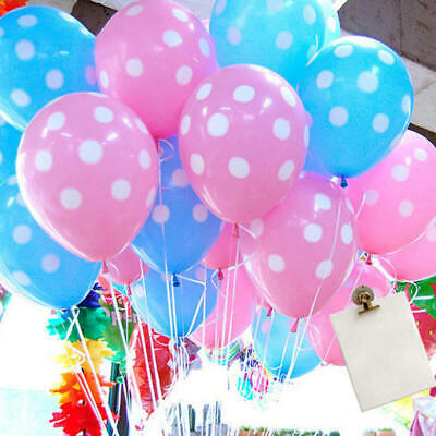 50~250pc Latex Polka Dot Balloons Party Wedding Holiday Celebrate Decoration Lot