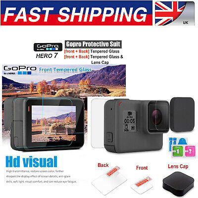 GOPRO HERO 7 6 5 BLACK SCREEN PROTECTOR TEMPERED GLASS LENS - UK Stock