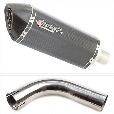 Lextek SP8C Carbon Fibre Hexagonal Exhaust Silencer with Link Pipe for Honda