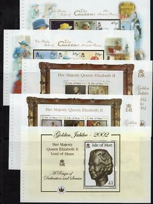 ISLE OF MAN MNH 2002 Golden Jubilee Booklet Panes