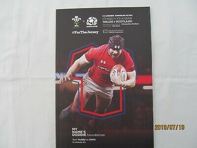 Wales v Scotland. Rugby Union. November 2018. Programme + Event Tickets.