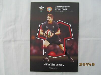 Wales v Tonga. Rugby Union. November 2018. Programme + Event Tickets.