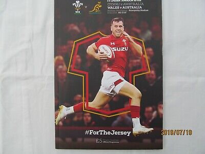 Wales v Australia. Rugby Union. Programme + Event Tickets. November 2018.