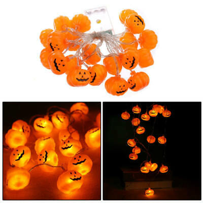 20 LED Pumpkin String Fairy Lights Lantern Party Home Props Halloween Deco MSV