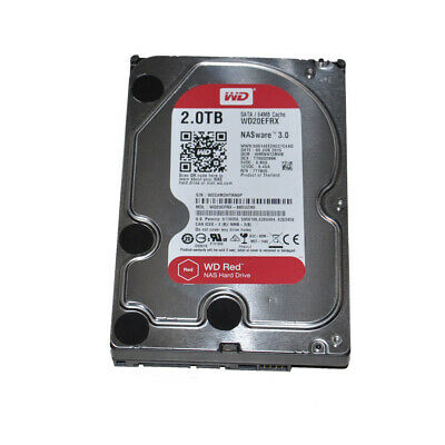 "Western Digital WD Red NAS WD20EFRX 2TB 64MB Cache 3.5"" SATA Hard Drive"