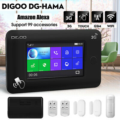 DIGOO DG-HAMA FULL Touch GSM & WiFi Smart Home Burglar Security