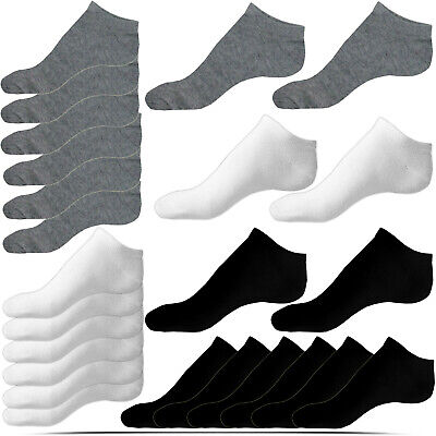 Mens Womens Trainer Liner Ankle Socks Comfort Gym Cotton Rich Sports Size 6-11