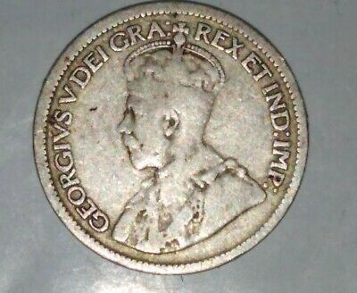Canada 1914 Silver Ten Cents George V