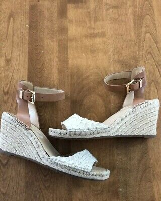 561c477b2b1 VINCE CAMUTO LEERA Floral Leather Ankle Strap Espadrille Wedge ...