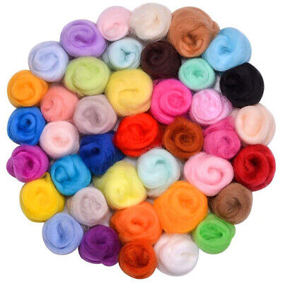 30 Colors Top DIY Roving Sewing Dyed Spinning Felting Fiber Needlefelting Wool