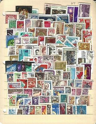 postage stamps lot, Russia, 117 different used, all large commems, free shipping