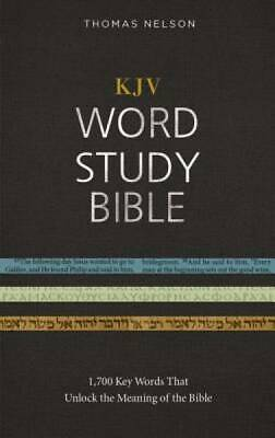 KJV, Word Study Bible, Hardcover, Red Letter Edition: 1,700 Key Words that Unloc