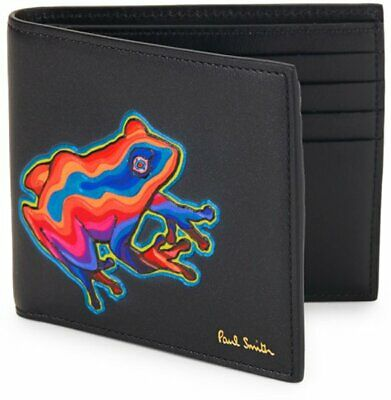 PAUL SMITH 'Dreamer FROG' multi colour Leather Print Billfold Wallet ULTRA RARE!