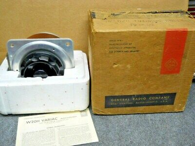 General Radio W20H Variac Variable Autotransformer 220 Volt 8 Amp New in Org Box