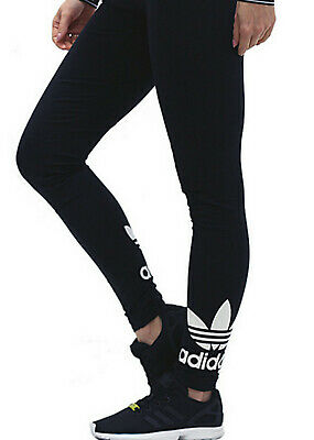 Girls ADIDAS ORIGINALS trefoil Leggings black ages 7 - 12 kids NEW LAST FEW SALE