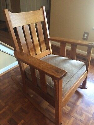 Antique Mission Arts Crafts Rocking Chair Great Condition Make Offer