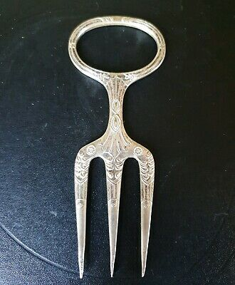 Antique Victorian Silver Plated Meat or Bread Fork