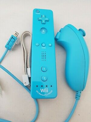 Official Nintendo Wii Motion Plus Remote and Nunchuck Blue