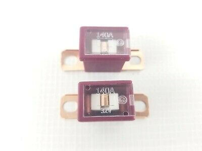 Pair 2x FLD140 Fuse 140A Maroon Burgundy Dk Pink Bent Bolt-on Style Link Auto