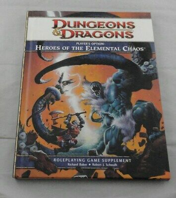 Dungeons and Dragons 4th Ed: Heroes of the Elemental Chaos TSR35617 D&D