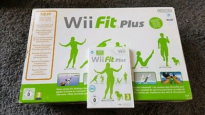 Boxed Official White Nintendo Wii Fit Balance Board & Wii Fit Plus Game
