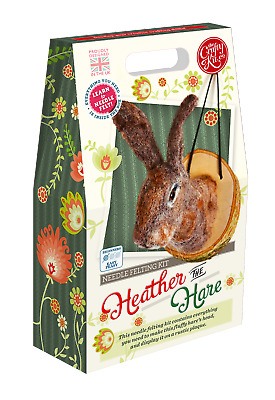 Heather the Hare Needle Felting Kit by The Crafty Kit Company
