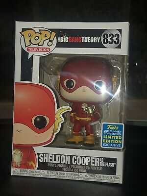 (1) Funko POP Sheldon Cooper As Flash Big Bang Theory SDCC 2019 Shared In-hand