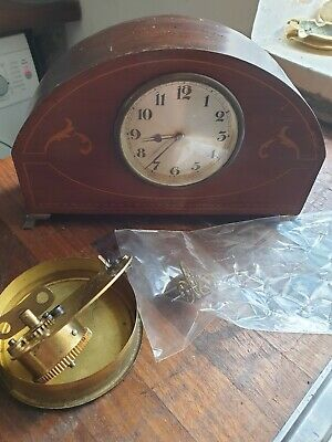 Antique Swiss Inlaid Mantel Clock, not working lots more being listed Saturday