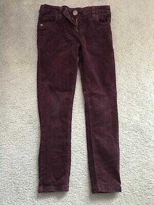 Age 8 Purple Cord Trousers From Next