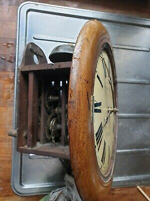 Antique round wall Clock, not working lots more being listed Saturday