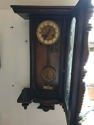 Antique wall Clock, not working lots more being listed Saturday
