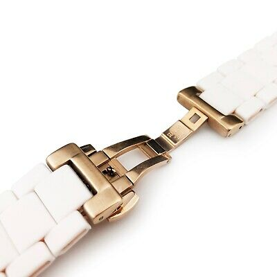 WHITE 23 20mm RUBBER/STEEL Strap Band Bracelet fit Emporio Armani AR5920 AR5919