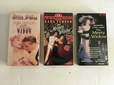 The Merry Widow - 3 Different Versions - Vhs Tapes