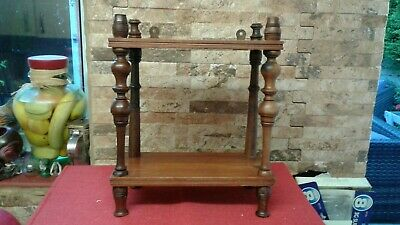 Antique Mahogany campaign  Shelf Unit   Fabulous Condition