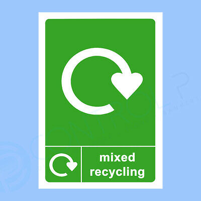 Mixed Recycling - Self Adhesive Sticker - A5 150 x 210mm - Premium